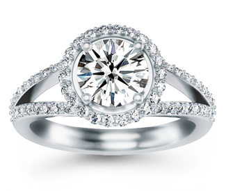 Halo Diamond Engagement Rings Australia